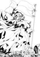 lineart cover komik SEER 02 by Tyo-Kuuma
