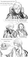 [Resident Evil:Damnation]Leon/Buddy small comics..