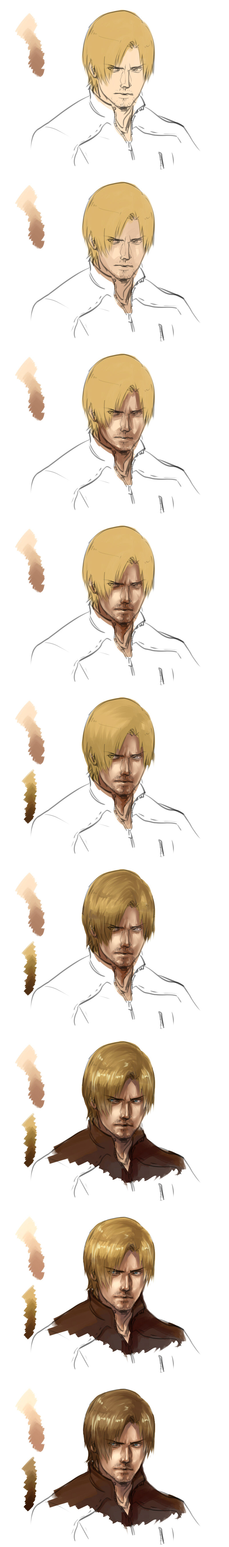 [Resident Evil:Damnation]Draw a Leon(Part 2) by eilinna