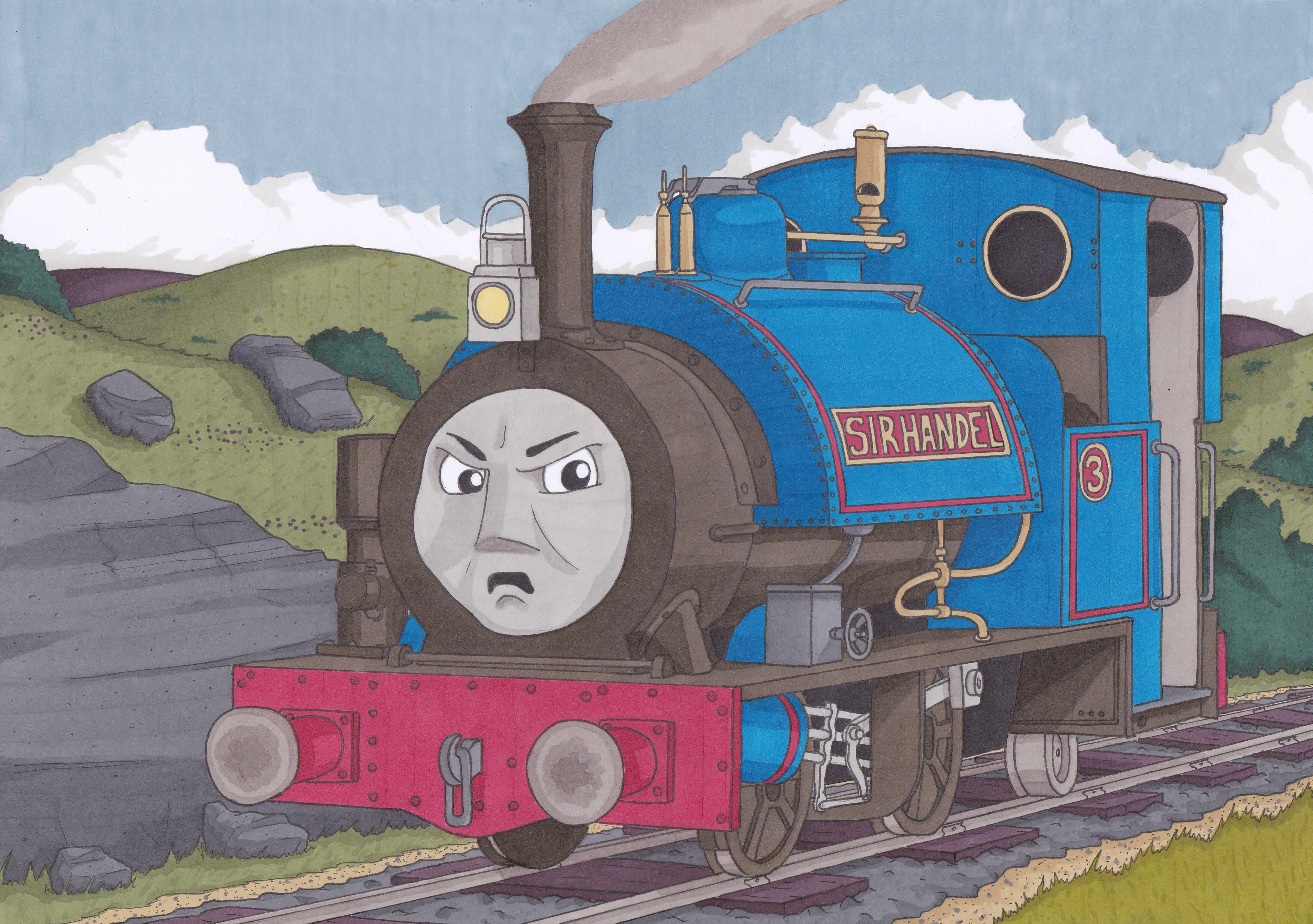 смешные рисунки паровозиков находятся совсем