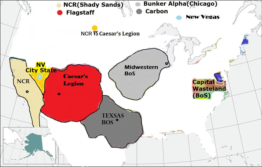 Map USA 2277 Fallout World by lopeszARTIAGA on DeviantArt