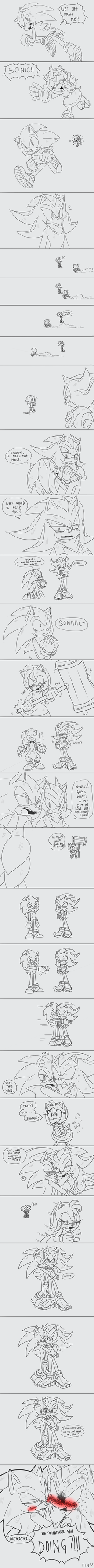 + How to ship Sonic and Shadow + by ClassicMariposAzul