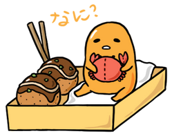 Takoyaki Gudetama by trotterat