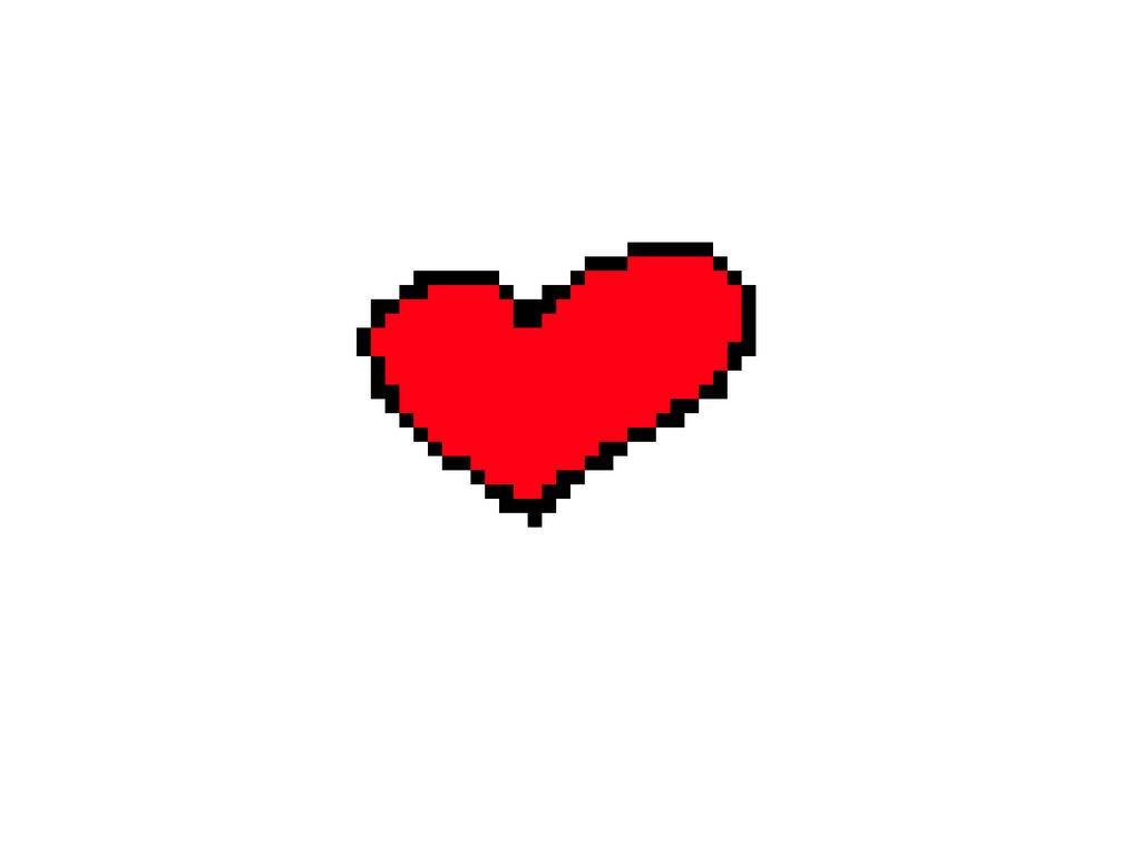 Coeur Pixel Art By Tartins On Deviantart