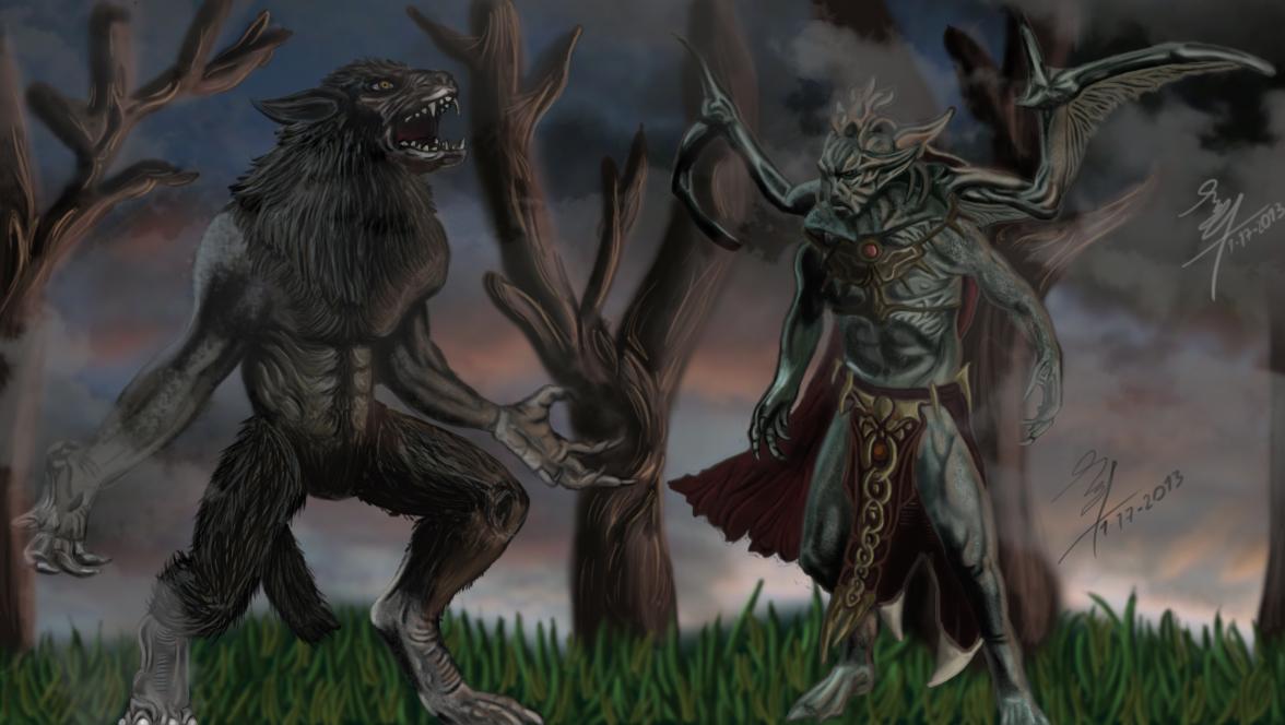 Werewolf Vs Vampire Lord Skyrim By Baalthankamaro On: Skyrim