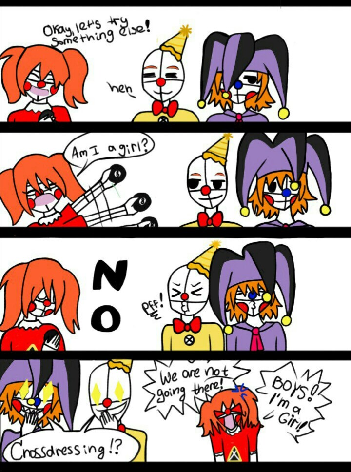 Clan Baby's page 1 (FNAF SL comic) by AssassinSamanthaPaff