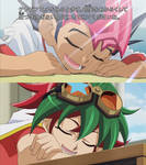 Yuma and Yuya sleeping in class