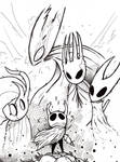 REPOST: Hollow knight fanart (not colored)