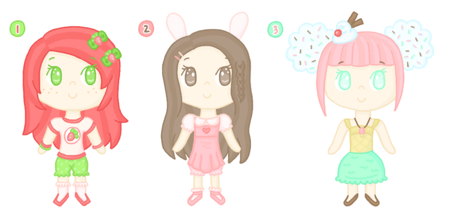 OC Adoptables Set 1 [closed] by Cupcake-Kitty-chan