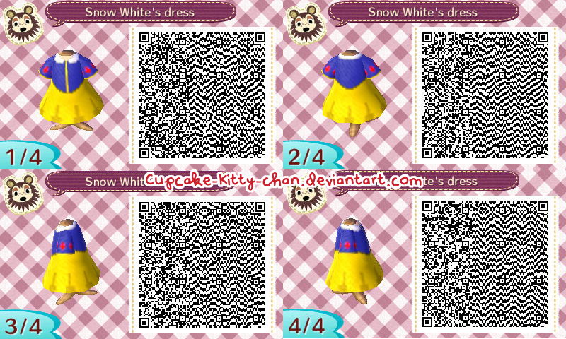 Blue dress qr code ipad