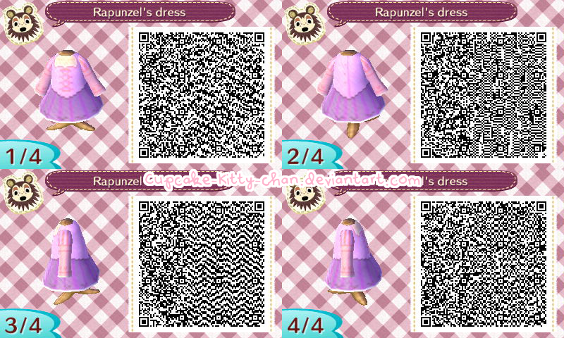 とびだせどうぶつの森 QRコード ラプンツェルの服【ディズニー】【ドレス】