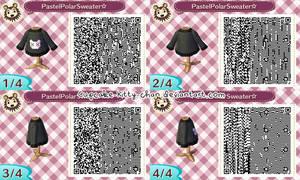 QR Code: Pastel Polar Sweater, Black