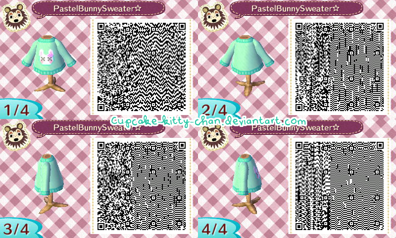 Qr Code Pastel Bunny Sweater Blue By Sugary Stardust On Deviantart