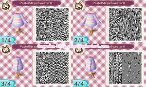 QR Code: Pastel Striped Sweater