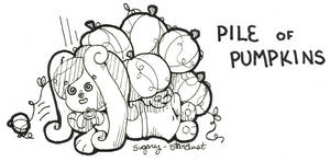 WISHFUL Inktober 06 | Pile of Pumpkins