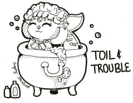 WISHFUL Inktober 10 | Toil and Trouble