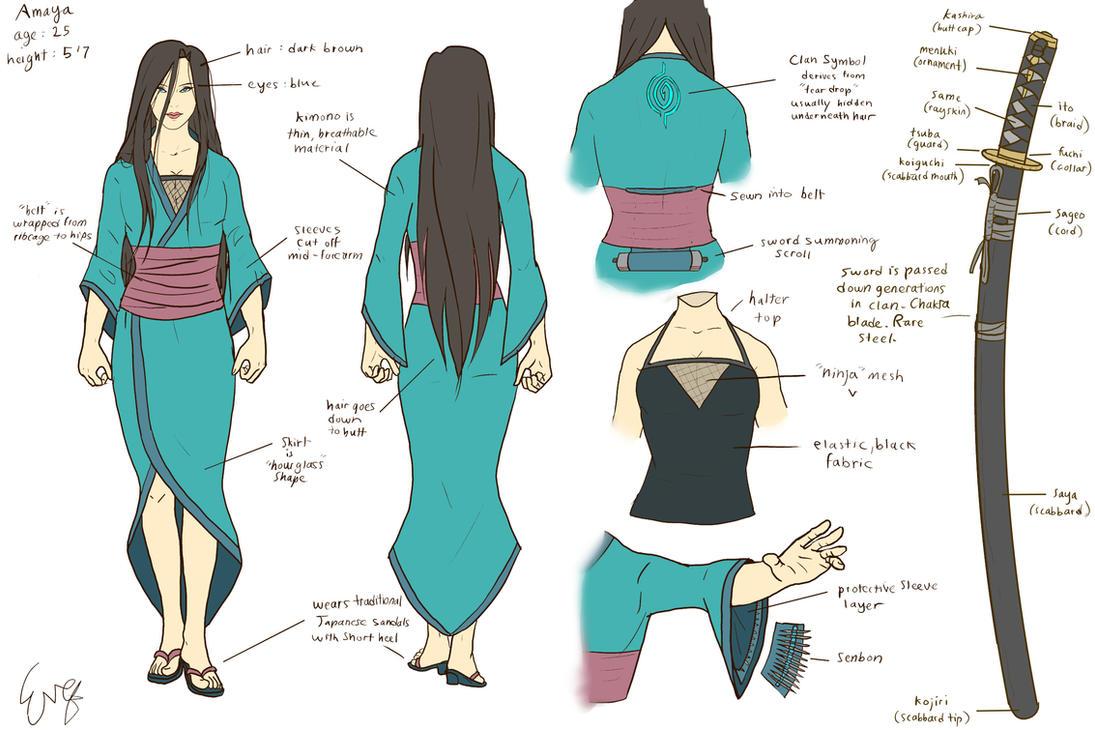D Amp D Character Design Sheet : Amaya character design sheet by invisibleninja on deviantart