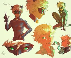 Chat/Adrien Doodles