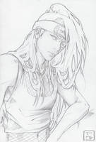 Deidara's Hair Sketch by invisibleninja12