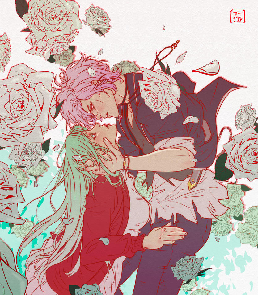 Diabolik Lovers: Subaru and Rosalie by invisibleninja12