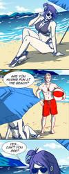 Konan at the Beach by invisibleninja12