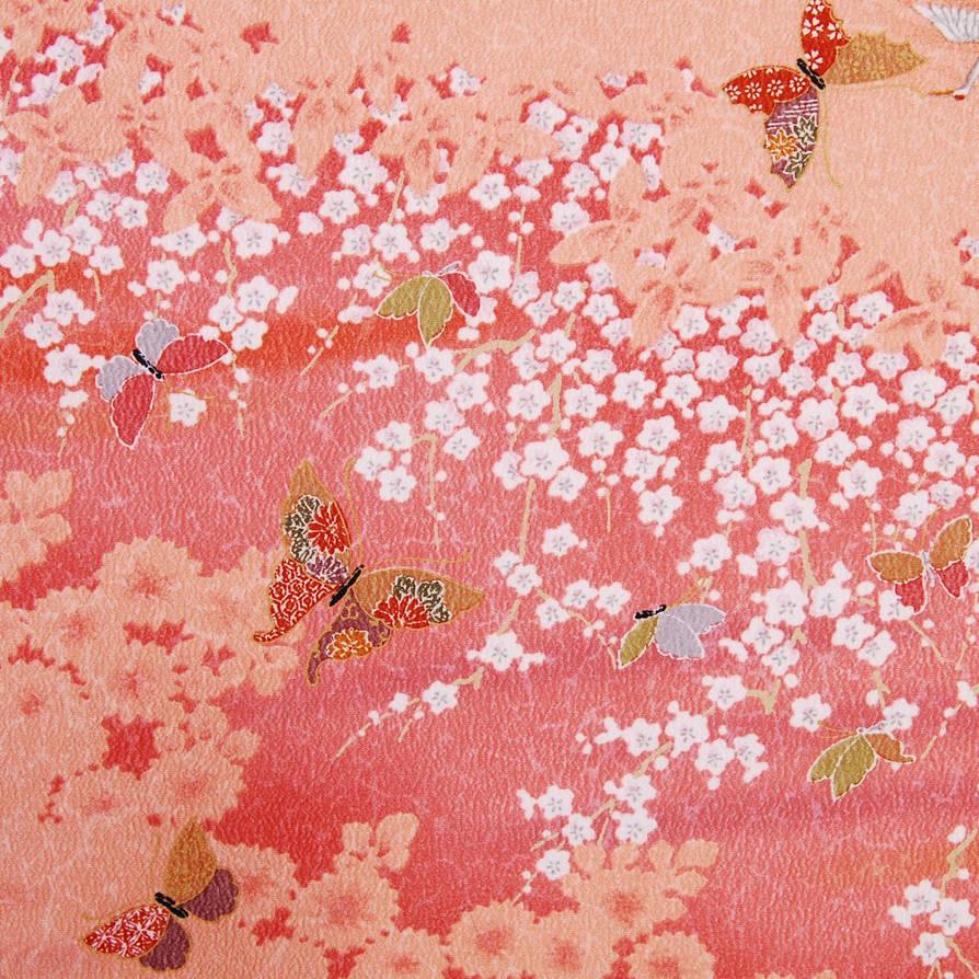 Pink-komon-kimono-butterfly-pattern-3
