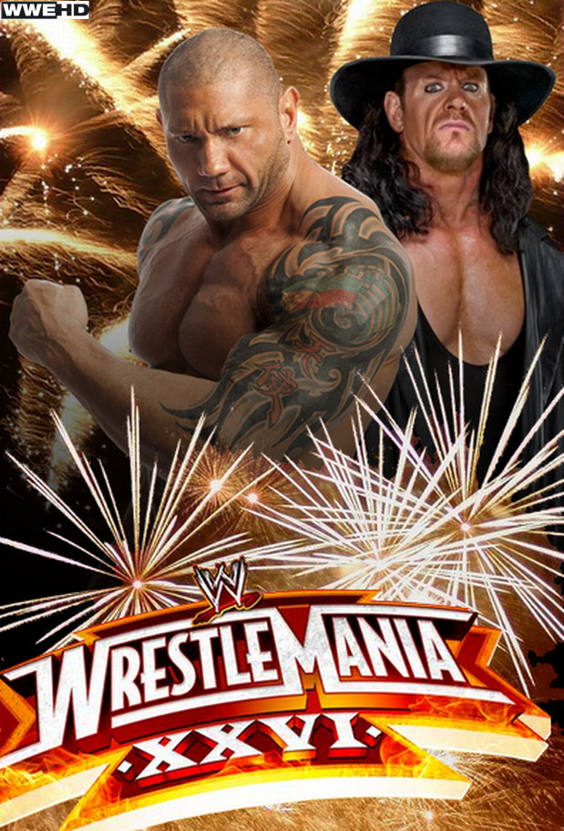 WWE WrestleMania 26 Poster by ABatista93 by AhmedBatista1993