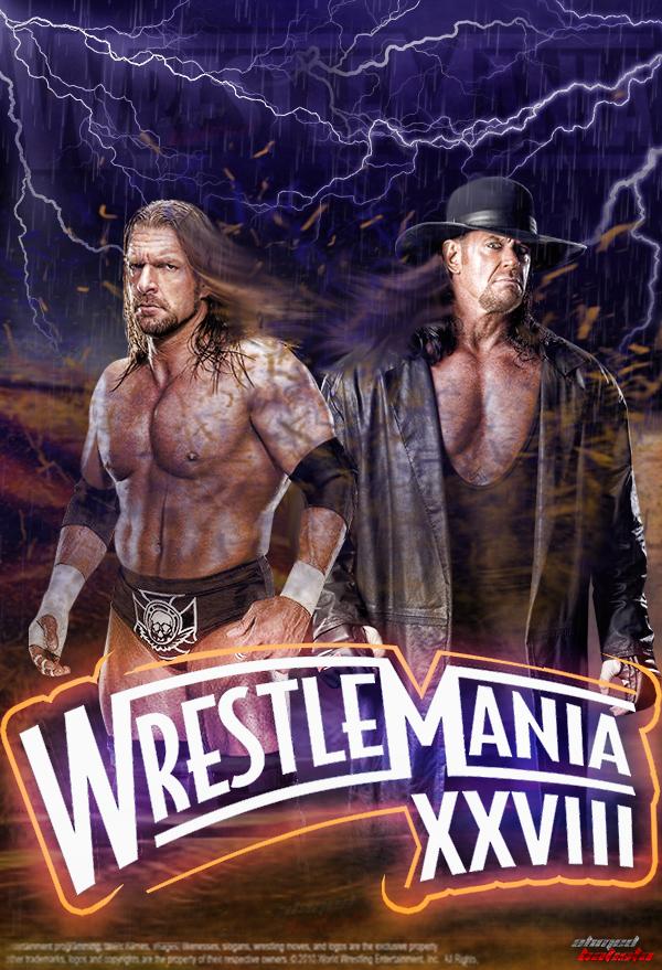 WWE WrestleMania 28 1st Poster by ABatista93 by AhmedBatista1993