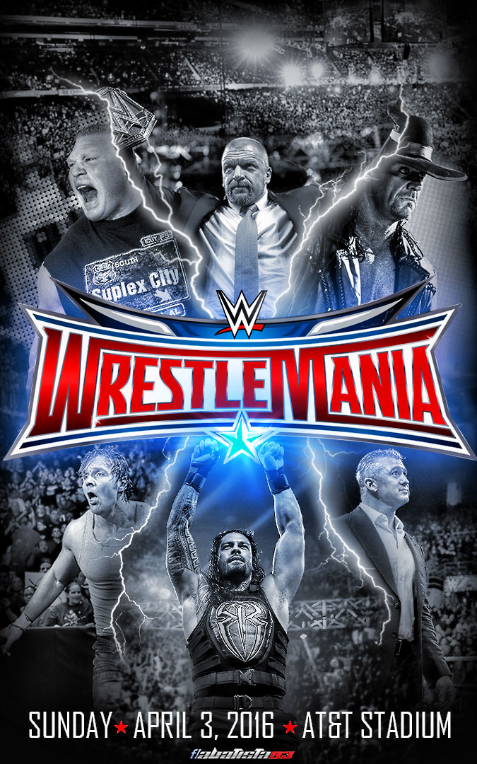 Image result for wrestle mania 2016 poster