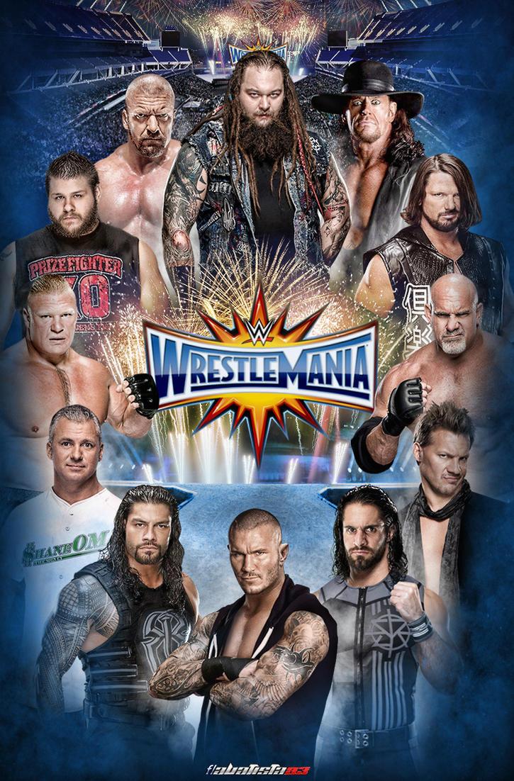 WWE WrestleMania 33 poster by ABatista93 by AhmedBatista1993