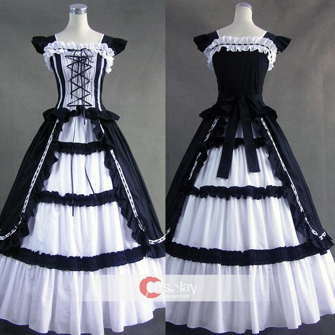 Lace Ruffled Bandage Gothic Lolita Dress by wendywei2012