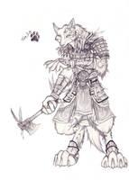 Tribal wolf Seto by camuiwolf