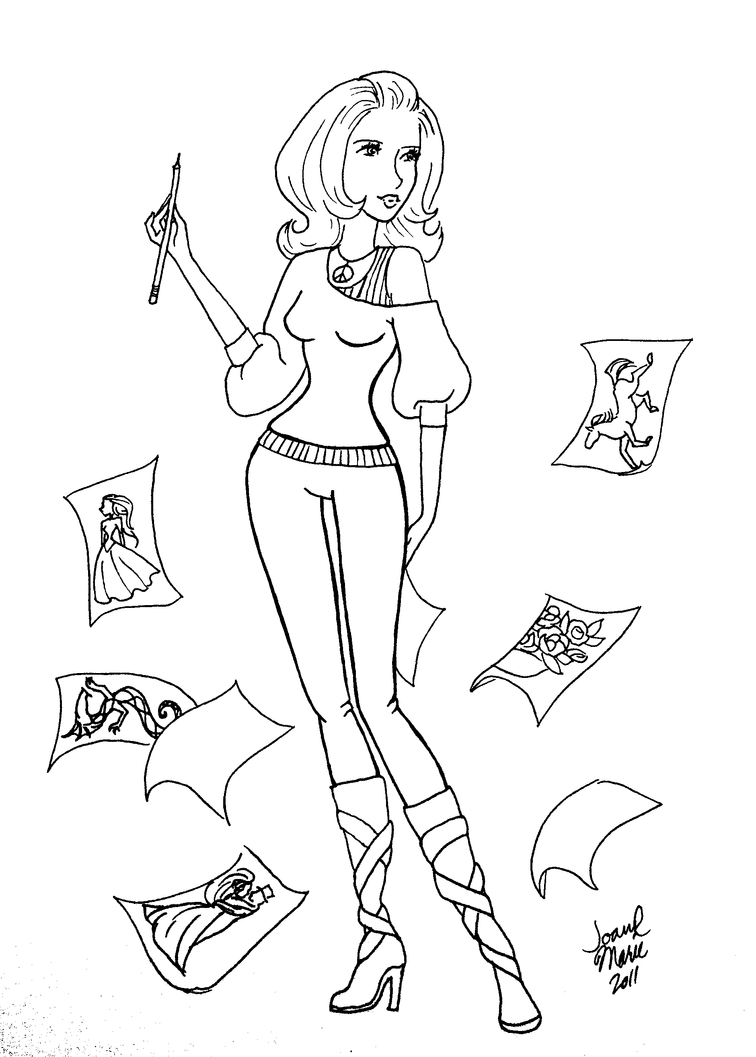 The Artist   Coloring Page By Theemeraldskull ...