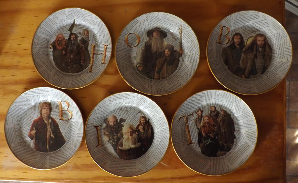 The Hobbit Decorative Plate Set by theemeraldskull ... & The Hobbit Decorative Plate Set by theemeraldskull on DeviantArt
