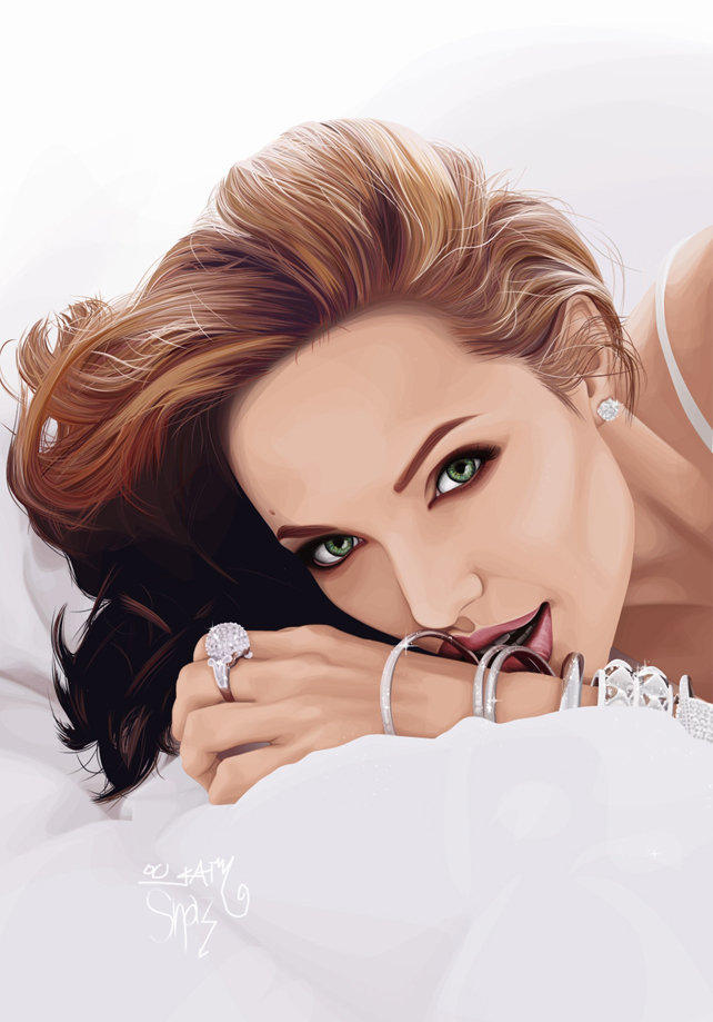 angelina jolie vector