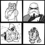 Star Wars Post It Sketches
