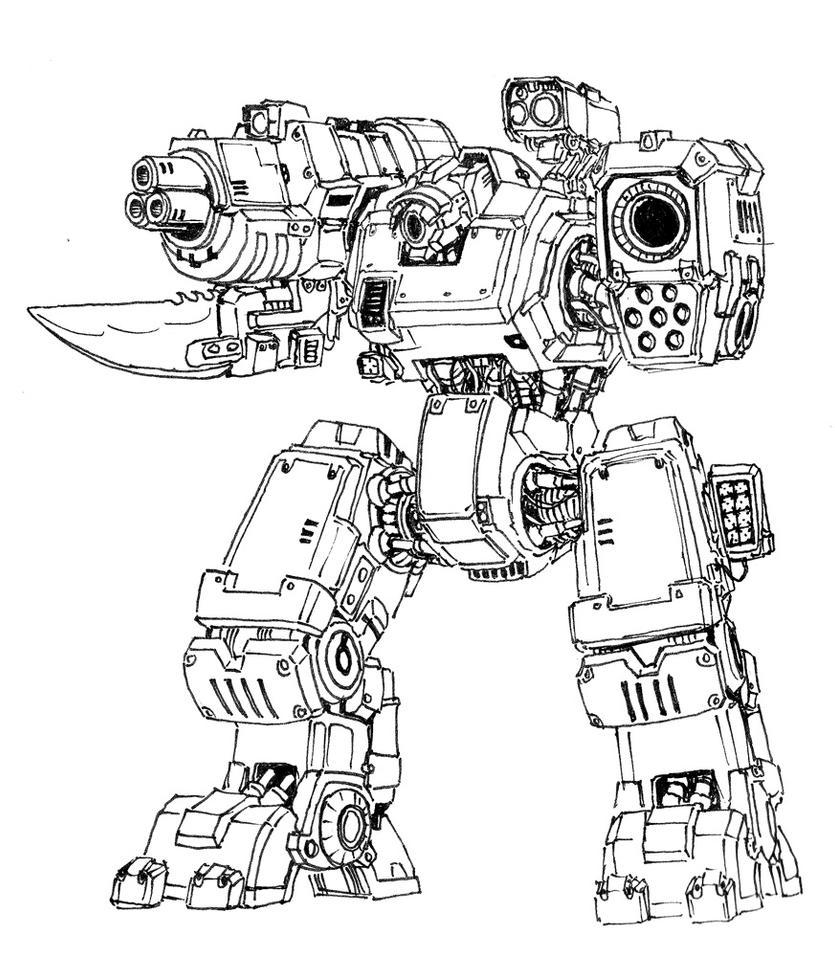 heavy autocannon mech by AlexandrosIII
