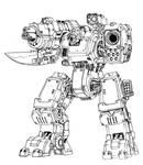 heavy autocannon mech