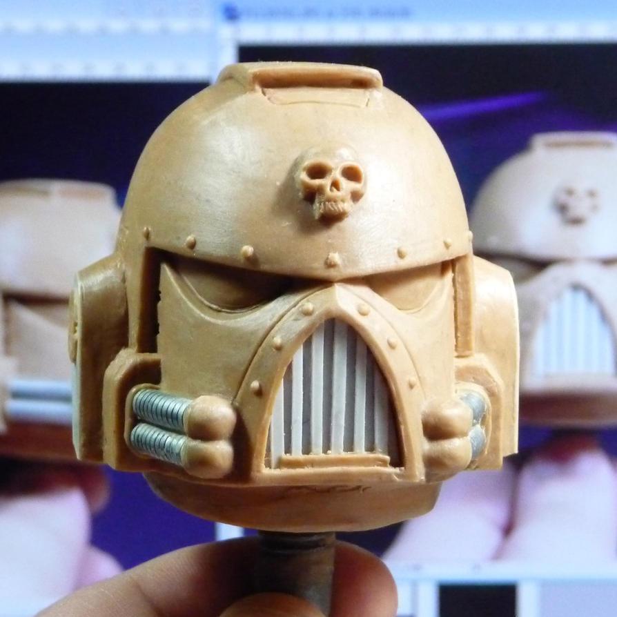 Space Marine Helmet by AlexandrosIII