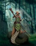 Half snake wizard girl by Smilechaos