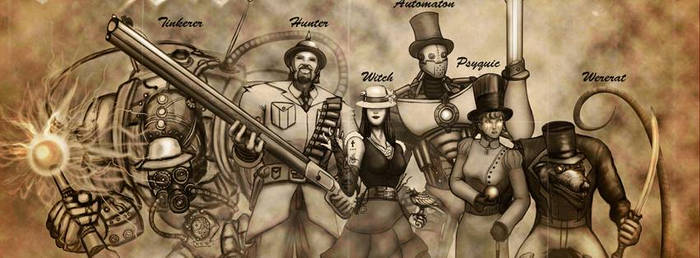 Steampunk party by Smilechaos