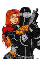 Snake Eyes and Scarlett COLORS by Venom20XX