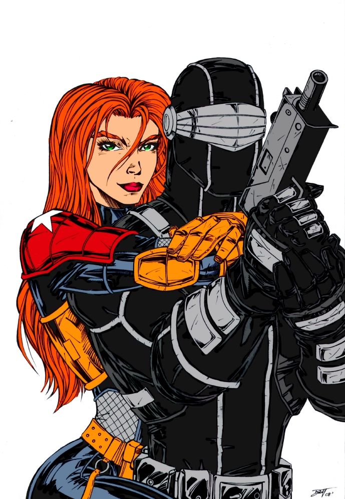 Snake Eyes and Scarlett COLORS by Venom20XX