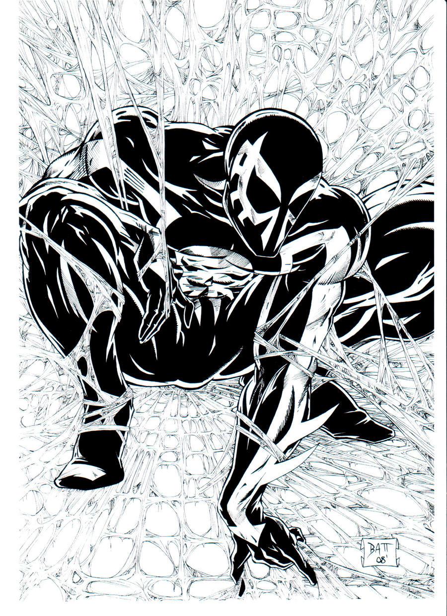 BW SpiderMan 2099 inks by Venom20XX on DeviantArt