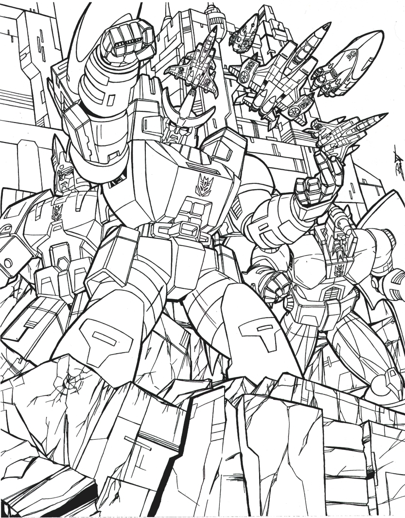 Transformers G1 Coloring Pages - Eskayalitim