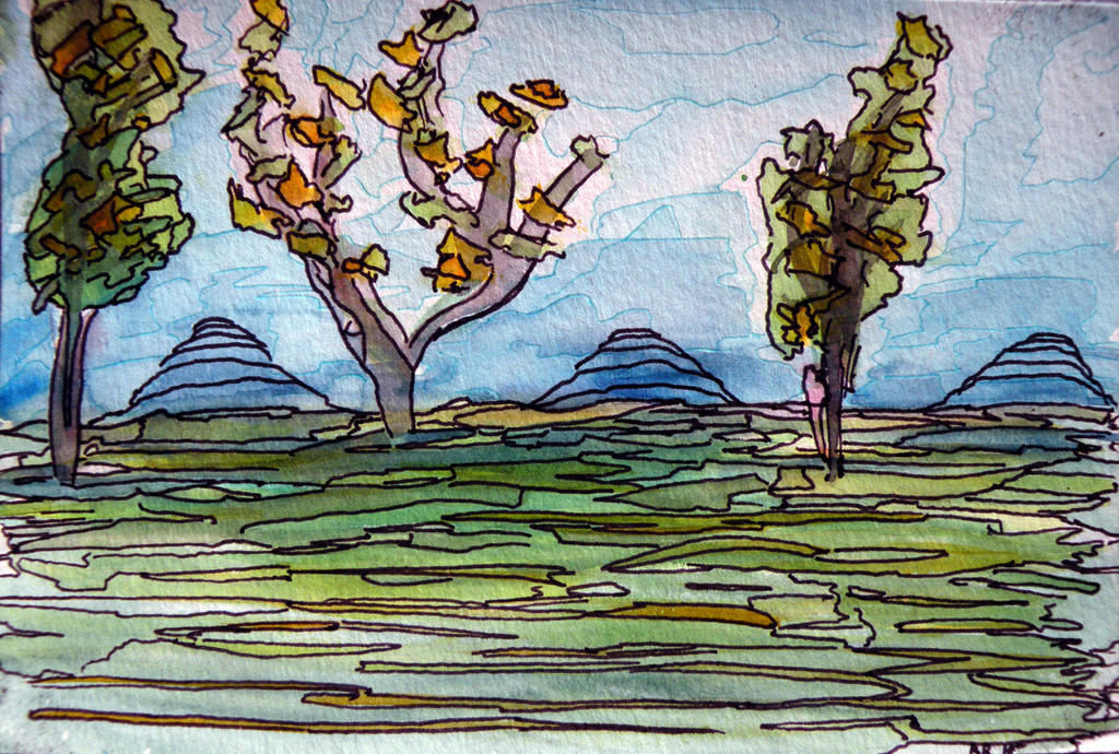 Fragmented Landscape by xvigorx