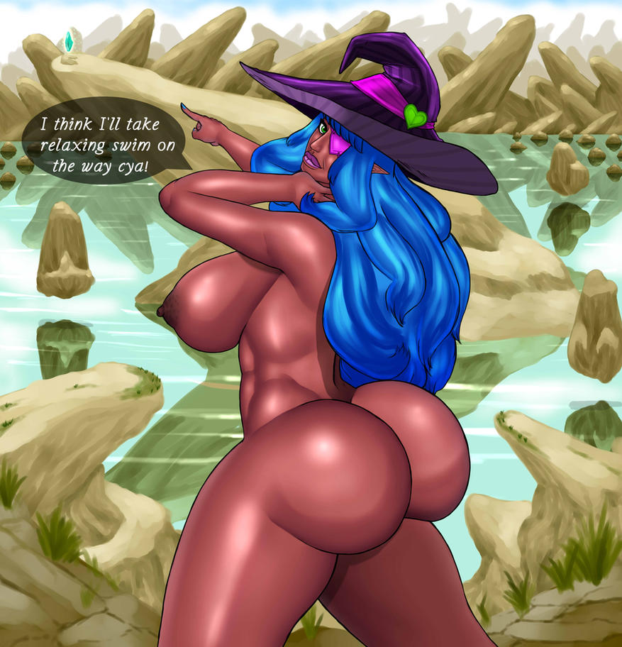 Witch at Rune Lake Naked by JosephPMorgan
