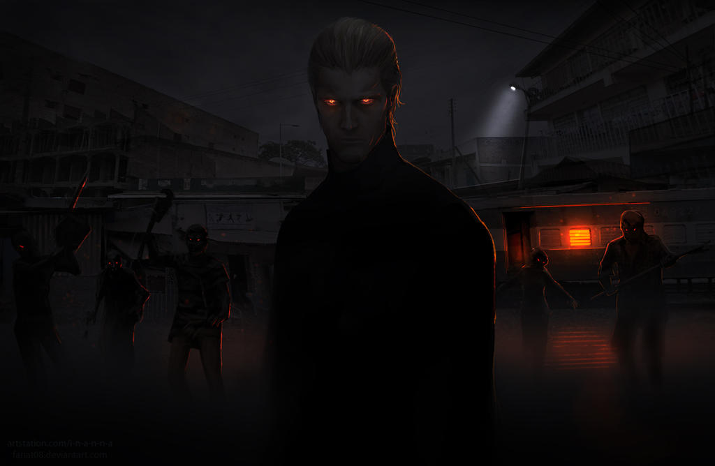 Albert Wesker.Dark night in Kijuju.