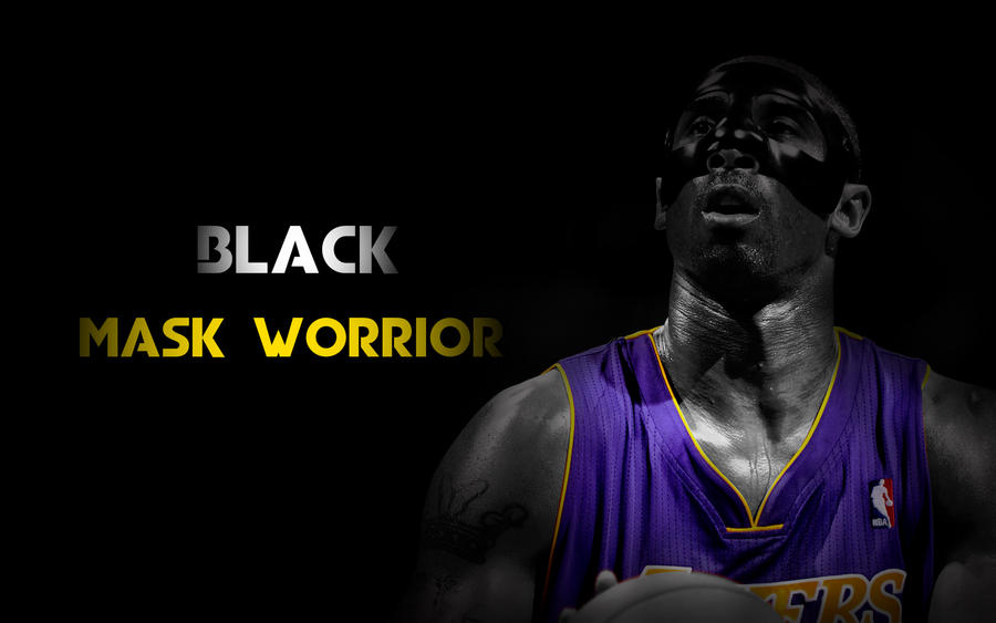 Kobe Bryant Wallpaper Black Mask Worrior By Coxlee
