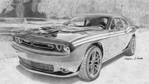 2018 Dodge Challenger Commission in progress